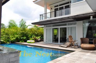 Modern villa for rent in compound, Thao Dien District 2