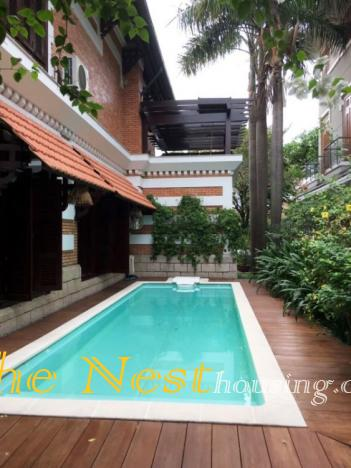 Villa Thao Dien for rent with 4 bed in compound