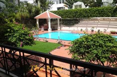 Charming villa for rent in District 2, 4 bedrooms, nice garden and swimming pool