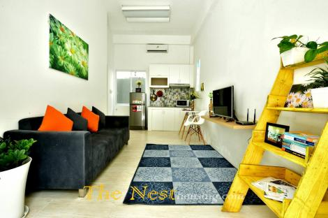 Nice service apartment type one bedroom for rent in Dist 2.