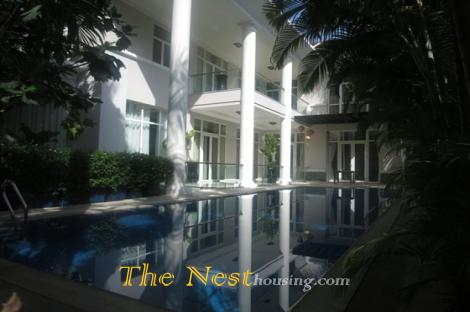 Modern Villa for rent in district 2, 4 bedrooms, swimming pool, 5500 USD