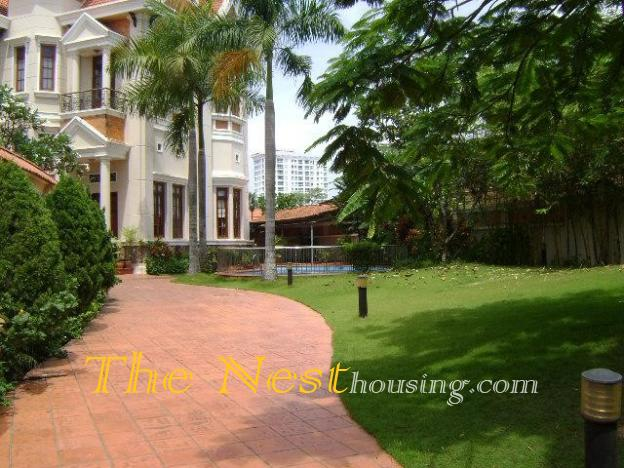 Charming villa for rent in Thao Dien, 4 bedrooms, private swimming pool, 5000 USD