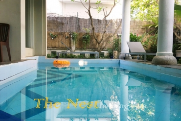 Villa for rent in compound, Thao Dien, 5 bedrooms, swimming pool, security 24/24, 3200 USD