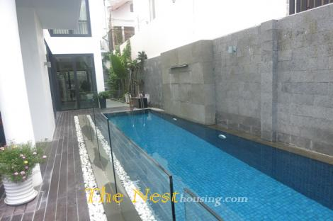 Modern house for rent in Thao Dien, 4 bedrooms, swimming pool