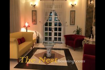 Charming villa for rent in District 2, nice garden, 6 bedrooms