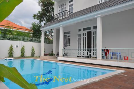 Villa for rent Thao Dien, has 5 bedrooms, swimming pool