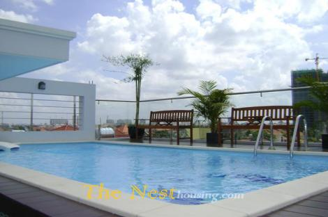 Myn Service apartment for rent in Thao Dien, modern style