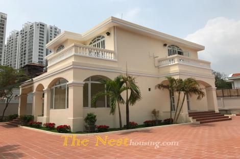 Nice villa for rent in compound – Thao Dien, swimming pool, 4 bedrooms, 5000 USD