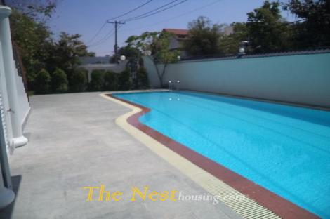 Villa for rent in compound - Thao Dien, 4 bedrooms, good location, 3600 USD