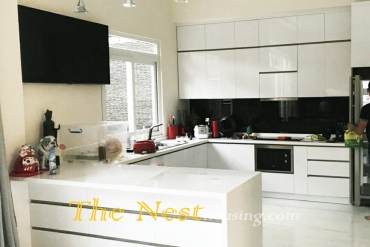 Modern house for rent in District 2, 3 bedrooms, partly furnished