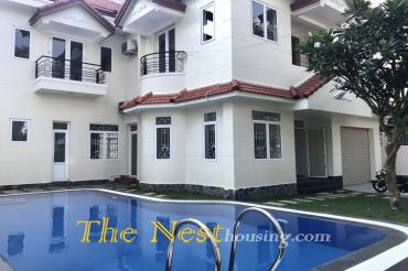 Villa for rent in thao dien ward, pool and garden