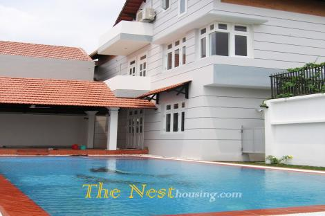 Modern villa for rent in Thao Dien, private swimming pool