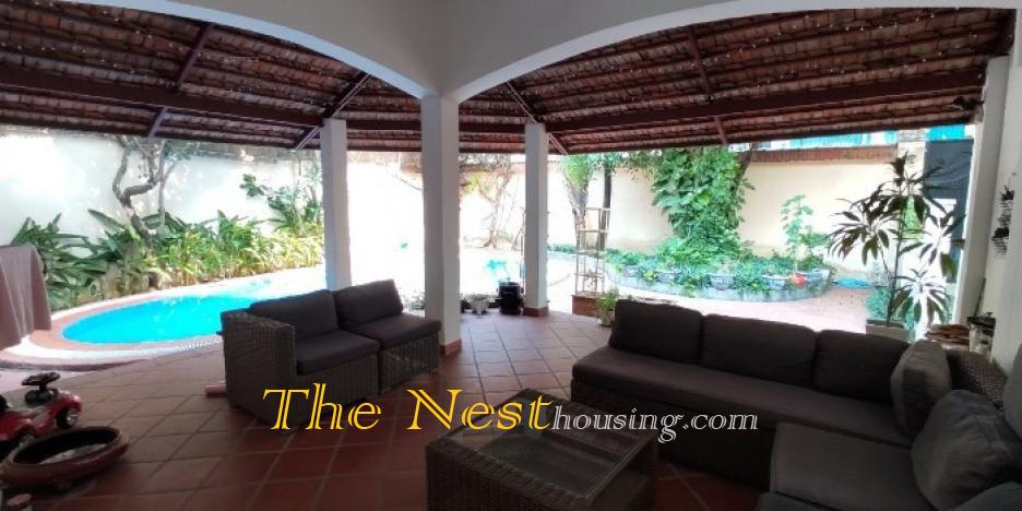 villa for rent in Thao Dien,  has pool - garden, HCMC
