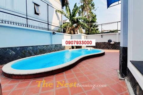 Vila for rent on Trần Não, 5 bedrooms, partly furnished, 2500 USD