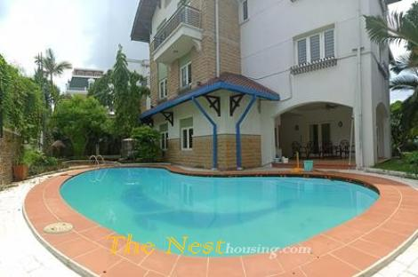 Nice villa for rent in compound, near BIS school in Thao Dien ward, dist 2