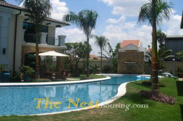 HOUSE for rent in Thao Dien, 3 bedrooms, 1 office room, COMPOUND, 2000 USD