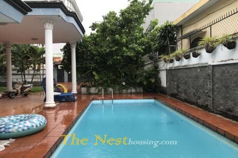 Villa for rent in Thao Dien, large garden, 4 bedrooms, good location