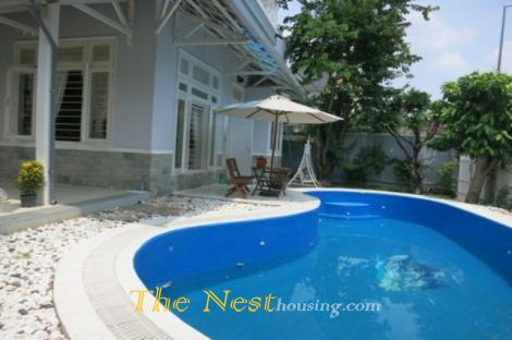 Modern villa for rent in compound Thao Dien