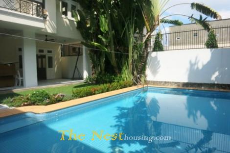 Charming villa 4 bedrooms for rent in Thao Dien