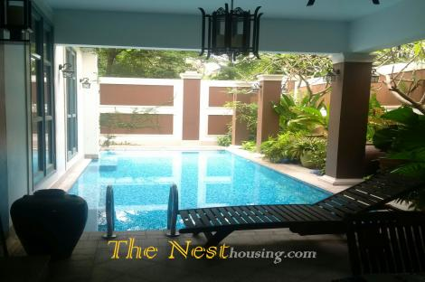Charming villa for rent in Thao Dien, 5 bedrooms, fully furnished, 6900 USD