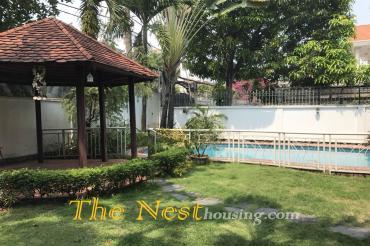Villa for rent in Thao Dien, nice garden and swimming pool, 4 bedrooms, 4000 USD