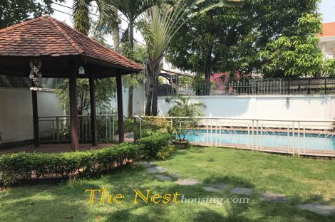 Villa for rent in Thao Dien, nice garden and swimming pool