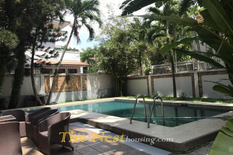 Villa for rent in District 2, private swimming pool, 4 bedrooms, good location