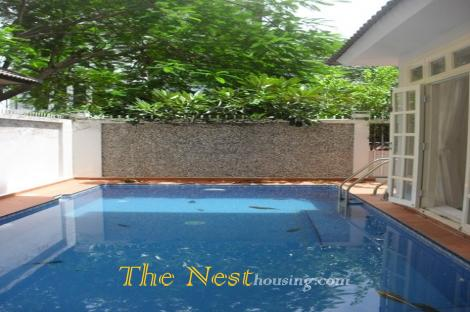 house for rent District 2 HCMC, Thao Dien ward, Swimming pool