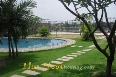 Villa for rent in thao dien, River view with garden