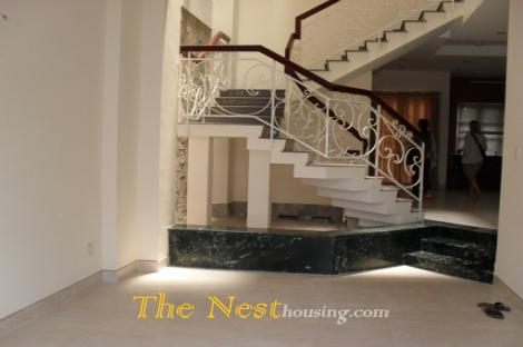 Nice house for rent in Thao Dien, 5 bedrooms, partly furnished, 2000 USD