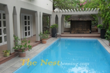 Charming villa for rent in Thao Dien, nice pool, garden 6000 USD