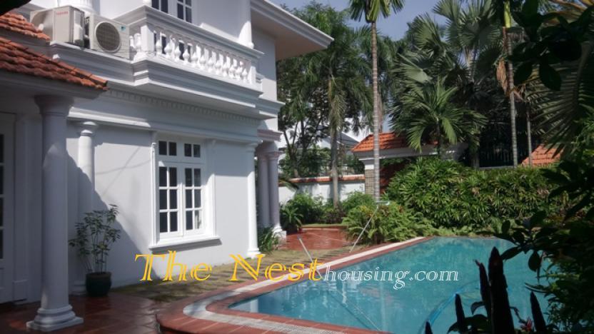 Villa for rent 4 beds pool garden in HCMC 1