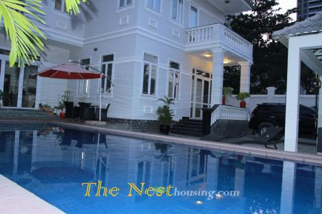 Modern villa for rent in Thao Dien, fully furnished, 4200 USD