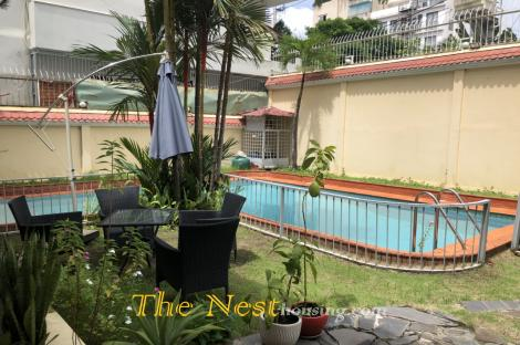 Modern villa for rent in Thao Dien, swimming pool, 6 bedrooms, partly furnished, 3500 USD