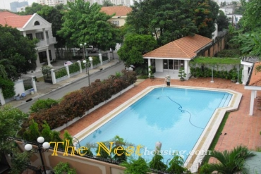Villa in compound Tran Nao for rent, 5 bedrooms, good location, 3800 USD