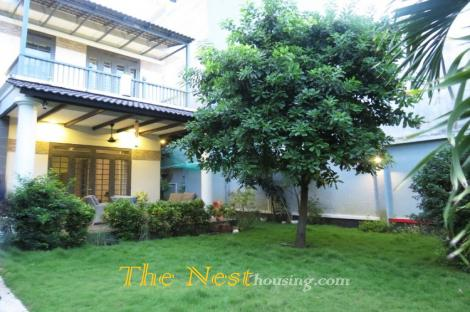 Villa with garden for rent in Thao Dien district 2