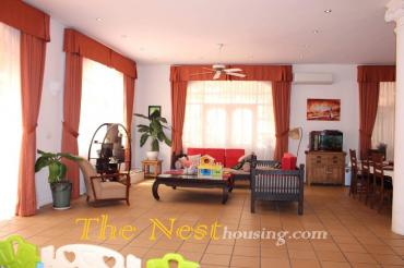 Charming villa in compound for rent, 4 bedrooms, big garden and swimming pool
