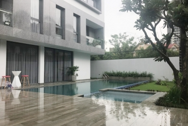 HOUSE for rent in Thao Dien, 4 bedrooms With garden-swimming pool. Price 8000