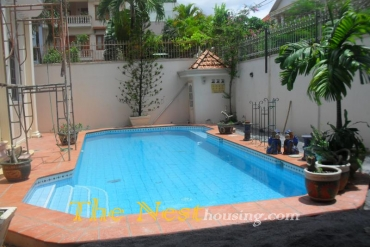 house for rent in Thao Dien, 4 bedrooms-pool. price 3800