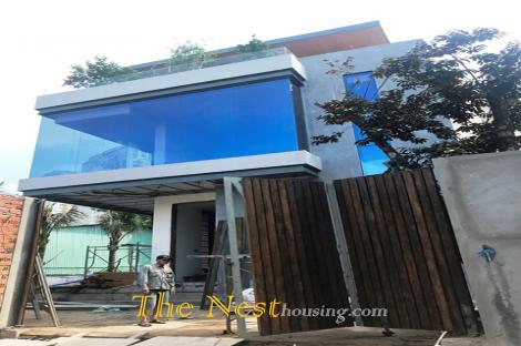 Morden house in compound Thao Dien ward, District 2.